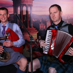 Reel Time Folk Band.  accordion and small pipes.  Visit Scotland