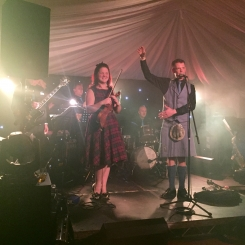 Ceilidh dance calling at Glenfiddich Distillery