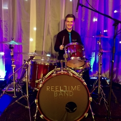 Keeping time with the Reel Time Drummer, rock ceilidh