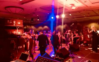 modern ceilidh band play at conference event